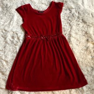 Other - Girls Red Velvet Dress